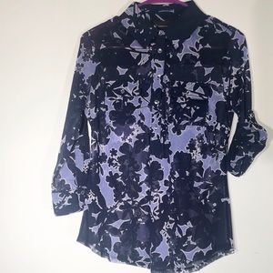INC International Concepts Purple And Blue Blouse
